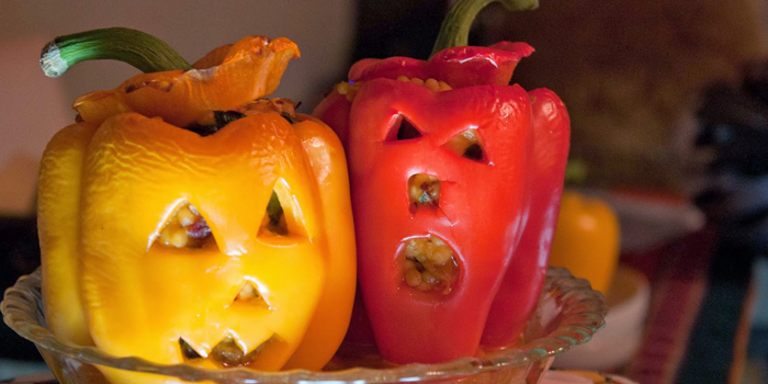 Couscous-chorizo-goat-cheese-stuffed-jack-o'latern-peppers-2