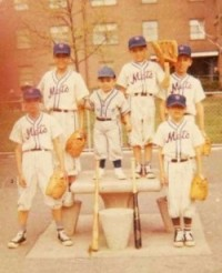 The Muñiz family baseball team in Brownsville, circa 1965 (Left to right: My father Stanley, Tio Luis, Tio Richie, Tio Mike, Tio Gilbert, Tio Eddie)