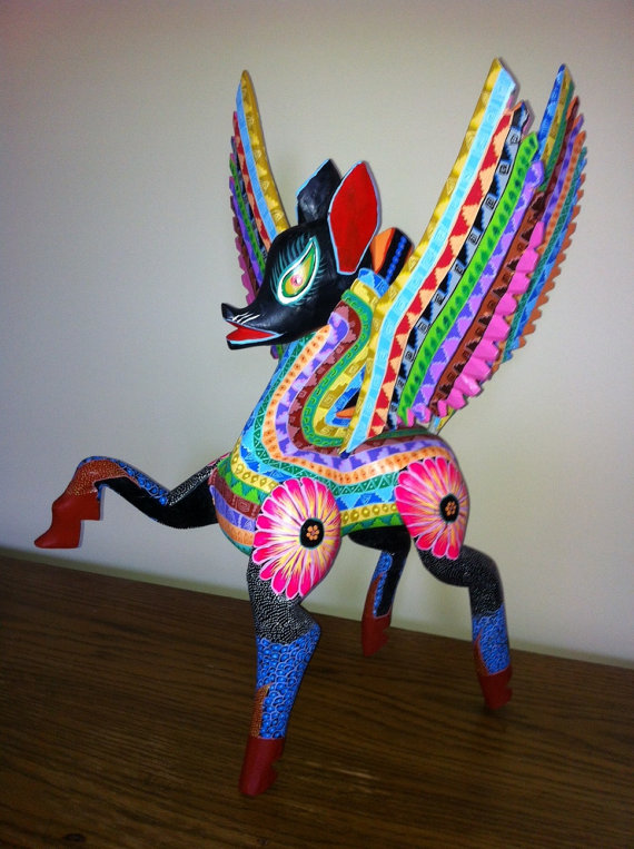 'Pegasus' alebrije, currently on sale via the Puech Ikots website